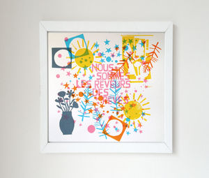 We Are The Dreamers Of Dreams Screen Print - typography