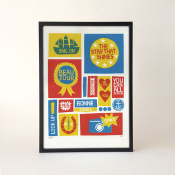 Hello Typographic Screen Print