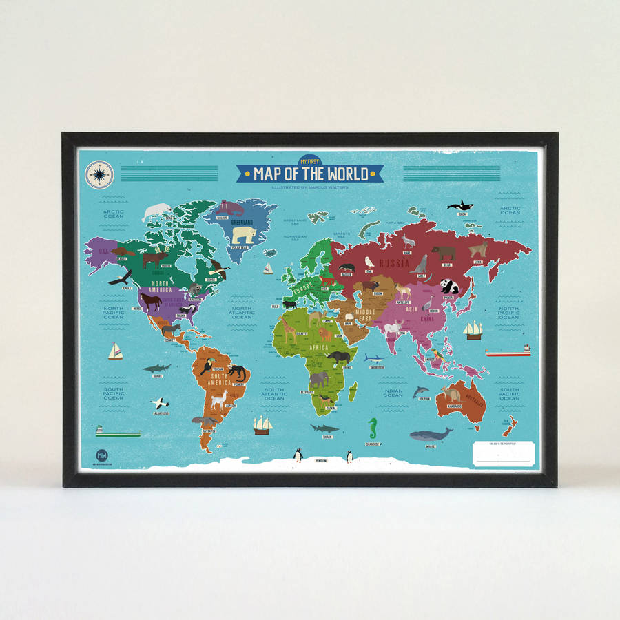 My first world map poster by marcus walters studio my first world map poster gumiabroncs Gallery