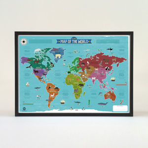 My First World Map Poster - baby's room