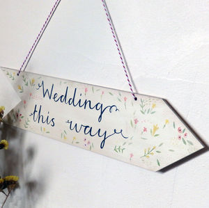 Wooden Wedding Sign - spring styling