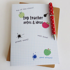 Top Teacher Notebook - gifts for teachers