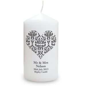 Heart Wedding Anniversary Personalised Candle - candles & candlesticks