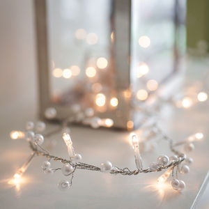 Pearl Beaded Fairy Light Garland - fairy lights & string lights
