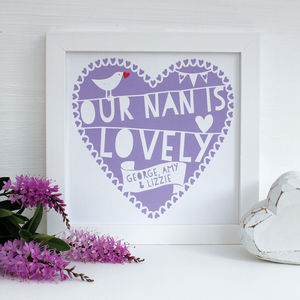 Personalised My Grandmother Is…Framed Print - gifts for grandmothers