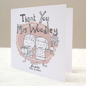 Children's Personalised Thankyou Card - gifts for teachers