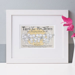 Children's Personalised Teacher Print