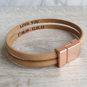 Rose Gold Secret Message Bracelet