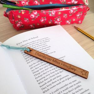 Personalised Thank You Teacher Bookmark - gifts for teachers