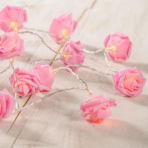 Pink Rose Battery Fairy Lights - fairy lights & string lights