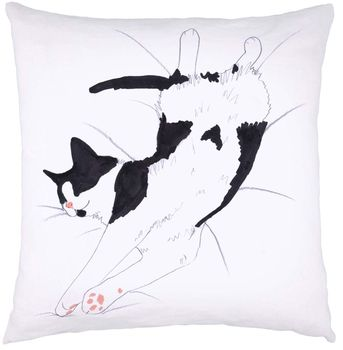 Black & White Cat Nap Cushion