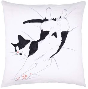 Cat Cushion 'Cat Nap' - soft furnishings & accessories
