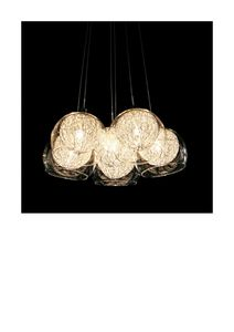 Contemporary Glass Ball Chandelier - lighting