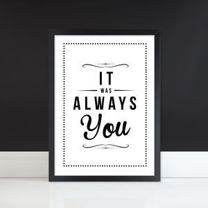 'Always You' Retro Fine Art Print Unframed