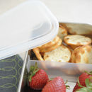 Clear Stainless Steel Container with Divider