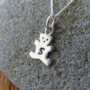 Silver Teddy Bear Charm Necklace
