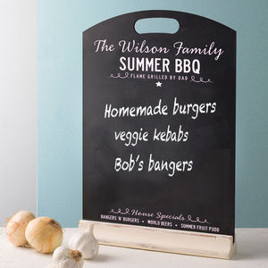 Family Chalkboard BBQ Menu - kitchen accessories