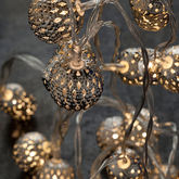 Battery Maroq Silver String Lights - christmas decorations