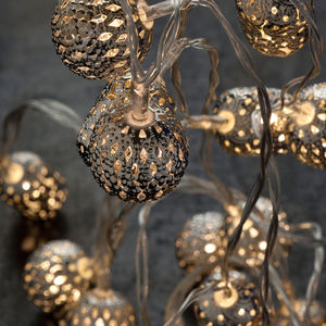 Battery Maroq Silver String Lights - room decorations