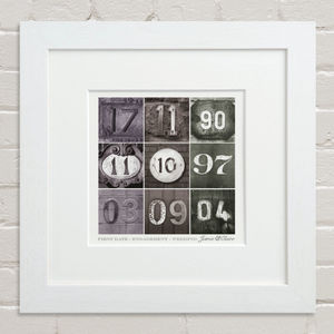 Dates To Remember Print - gifts for couples