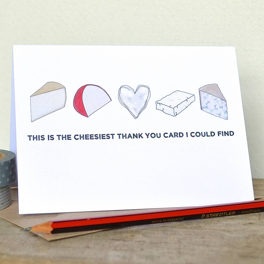 Cheesy Birthday Or Anniversary Card By Becka Griffin Illustration