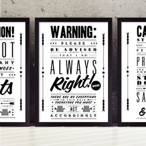 'Always Right' Retro Notice Art Print