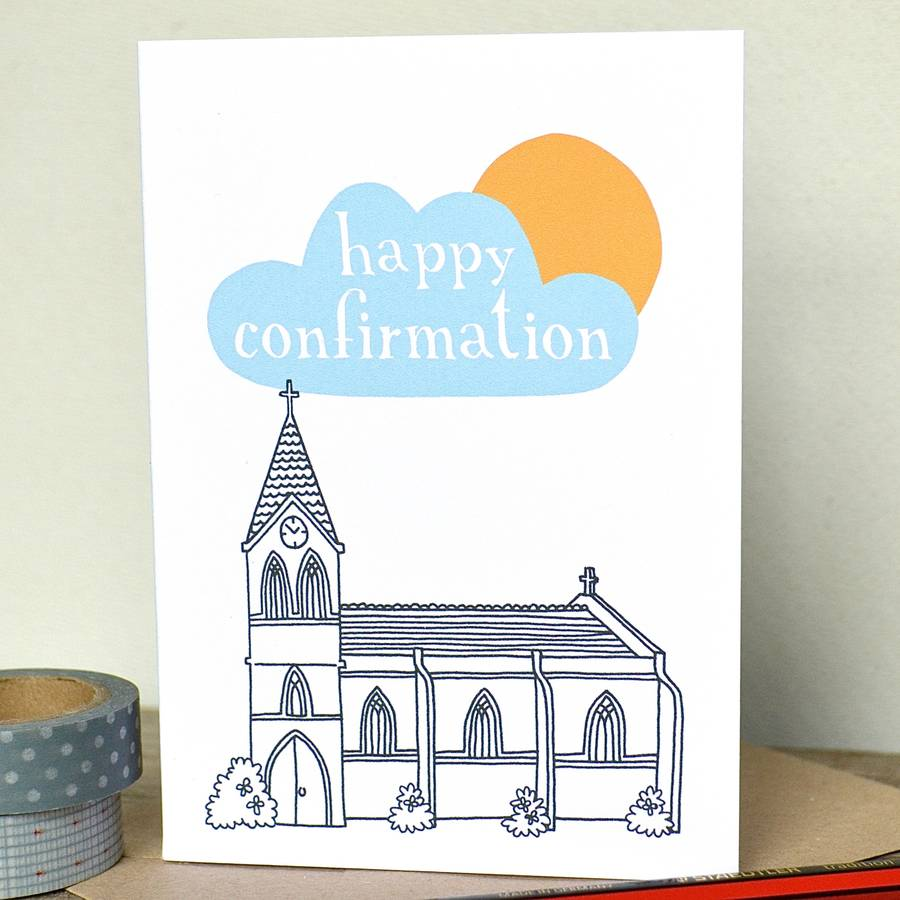 personalised 'happy christening' church card by becka ...