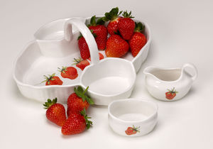 Strawberry Serving Dish