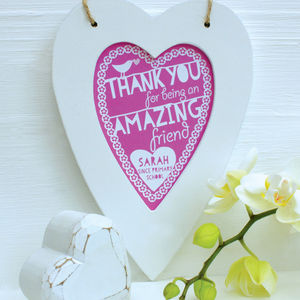 Personalised Thank You Framed Heart - wedding favours