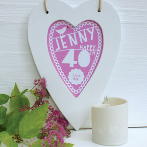 Personalised Birthday Framed Heart - posters & prints