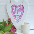 Personalised Birthday Framed Heart