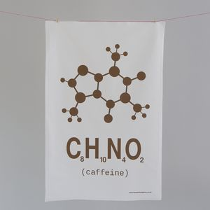 Caffeine Tea Towel