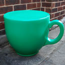 light green tea cup stool