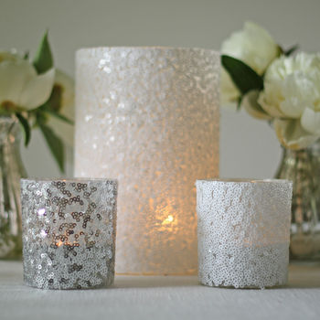 Sequin Candle Holders And Vases