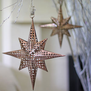 Hanging Moroccan Star Decorations - tree decorations