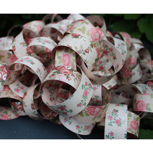 Rose Paper Chain Garland - outdoor decorations
