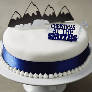 Personalised Arctic Christmas Cake Topper Set - food & drink gifts