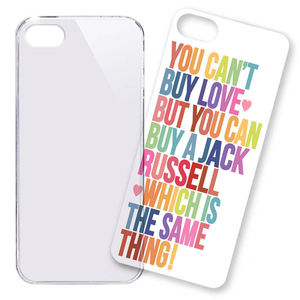 iPhone Case, Jack Russell, Lettering - phone & tablet covers & cases