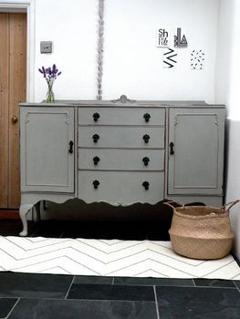 Paris Grey Bow Fronted Sideboard