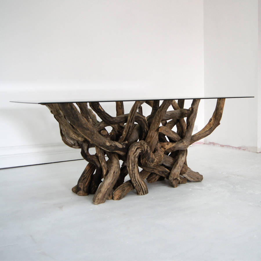 Great Rectangular Driftwood Dining Table
