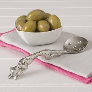 Pewter Olive Spoon - tableware
