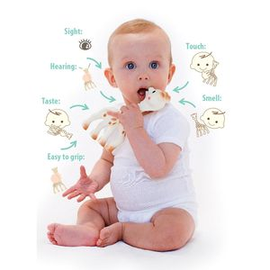 Natural Rubber Giraffe Teether