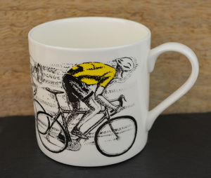 Sprint Cyclist Yellow Jersey Mug - tableware