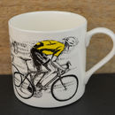 Sprint Cyclist Yellow Jersey Mug