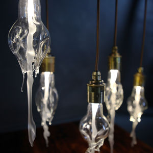 Melting Glass Bulb Pendant Light