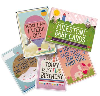 Set Of 30 Milestone Baby Cards