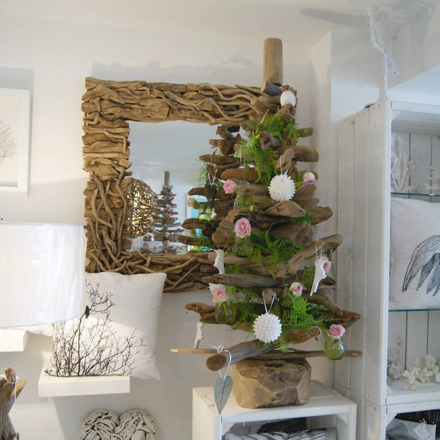 Perfect Decorated Ft Natural Driftwood Tree With 4ft Xmas Tree.