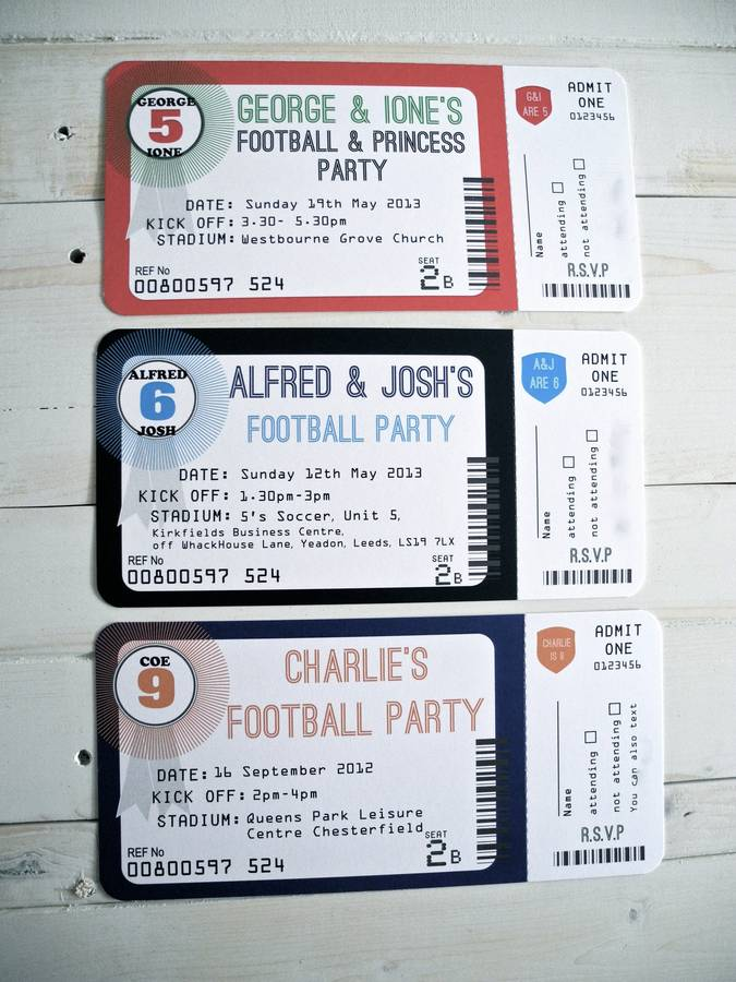 football ticket invitation by sweet words stationery – Invitation Ticket