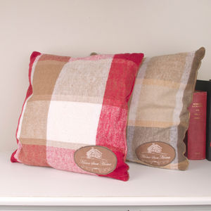 Country Retreat Cushion Red Or Brown - patterned cushions