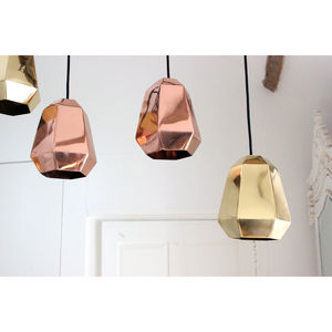 Copper And Brass Pendant Light - office & study